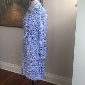 NWT Pendleton Wrap Dress Blue Tile XL